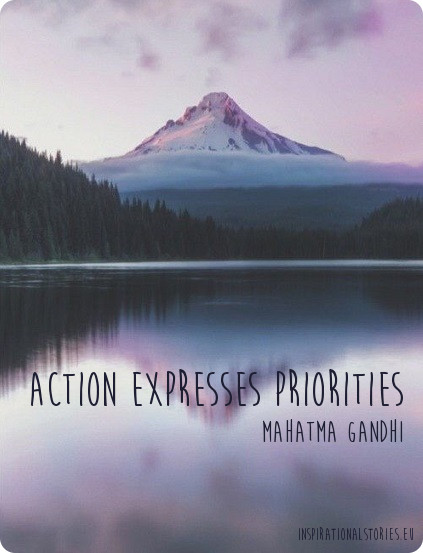 inspirational stories about priorities